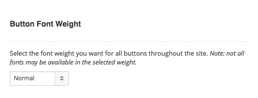 Theme Options Button Style