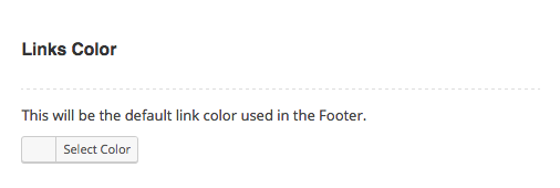 Footer Theme Options